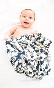 How I Wonder - Camo Muslin Swaddle - Mil & Clo baby