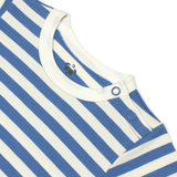 Bamboo Striped Body T-Shirt - Panda and the Sparrow - Sapphire & Natural - How I Wonder.co.uk - 3