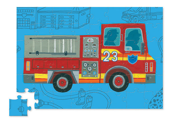 Crocodile Creek - Puzzle and Play - Fire Engine - How I Wonder.co.uk - 2