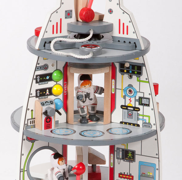 Hape Wooden Toy - Discovery Spaceship & Lift Off Rocket - how-i-wonder