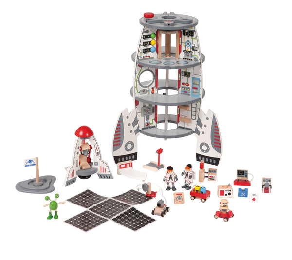 Hape Wooden Toy - Discovery Spaceship & Lift Off Rocket - How I Wonder.co.uk - 5