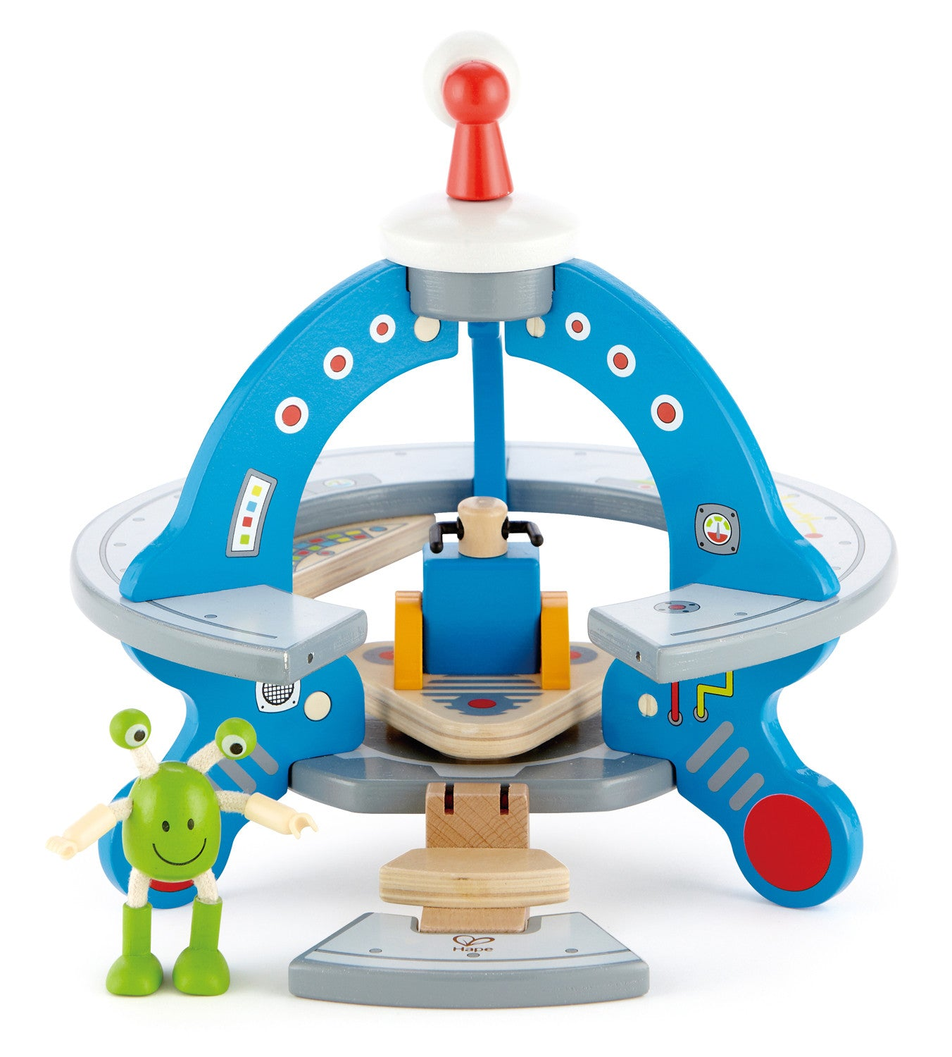 Hape Wooden Toy - UFO - How I Wonder.co.uk - 1