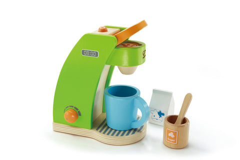 Hape Wooden Toy - Coffee Maker - How I Wonder.co.uk - 1