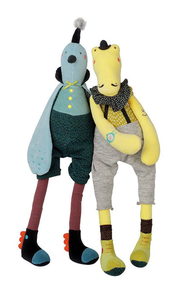 Plush soft toys - Moulin Roty Broc'n Roll's Collection - Crocodile - How I Wonder.co.uk - 2