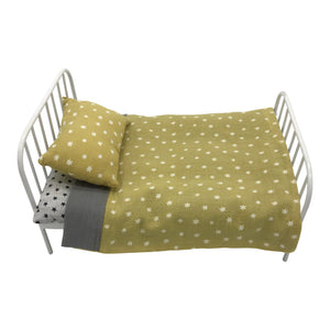 And the Little Dog Laughed - Audrey - Metal Bed - Grey & Ochre