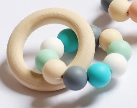 Blossom & Bear - Teething Toy - Colour Mix - Turquoise