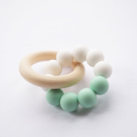 Blossom & Bear - Teething Toy - Mint/White