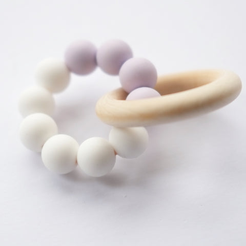 Blossom & Bear - Teething Toy - Lavender/White