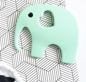 Teething Toy - Mint Elephant