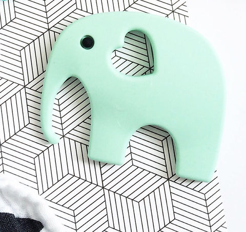 Blossom & Bear - Teething Toy - Mint Elephant