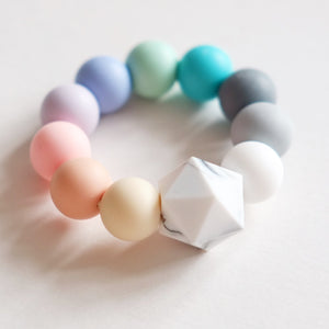 Teething Toy - Pastel Rainbow - Blossom & Bear