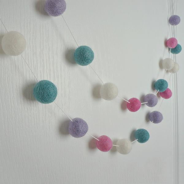 Felt Ball Garland - Party - Stone & Co