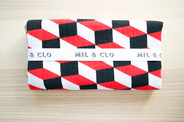 Geometric Cotton Muslin Swaddle/Scarf - Mil & Clo - how-i-wonder