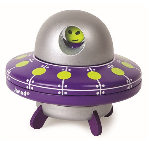 Janod Toys - Wooden magnetic Toy - UFO - How I Wonder.co.uk - 1