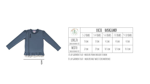Folpetto - Lucie - Dusky Blue - Rashguard - how-i-wonder