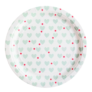 my little day - Paper Party Plates - Aqua Hearts - How I Wonder.co.uk - 1