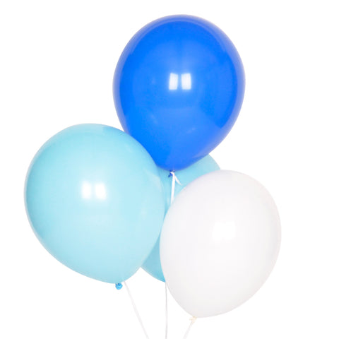 my little day - Party Balloons - Mixed Blues and White - How I Wonder.co.uk - 1
