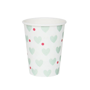 my little day - Paper Party Cups - Aqua Hearts - how-i-wonder