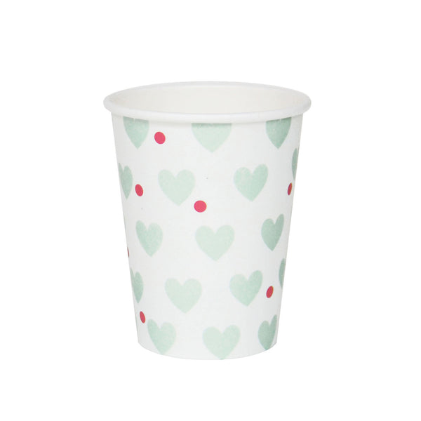 my little day - Paper Party Cups - Aqua Hearts - How I Wonder.co.uk - 1