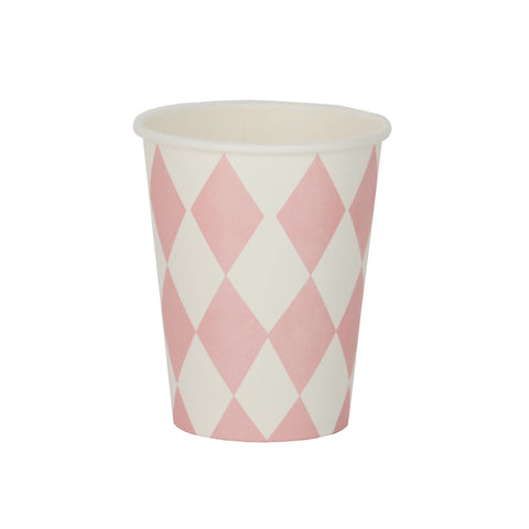 my little day - Paper Party Cups - Light Pink Diamonds - How I Wonder.co.uk - 1