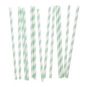 my little day - Candy Stripe Paper Straws - Aqua and White - How I Wonder.co.uk - 1