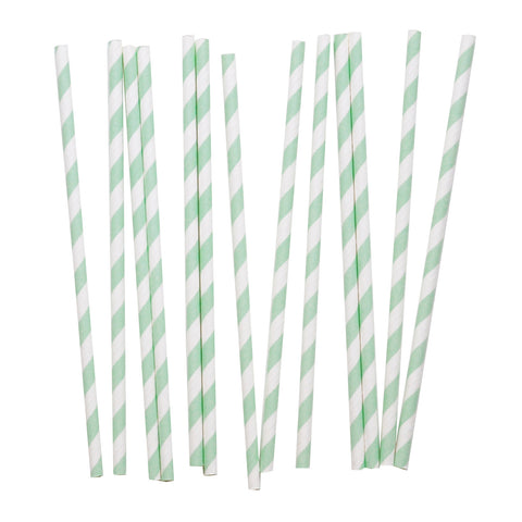 my little day - Candy Stripe Paper Straws - Aqua and White - how-i-wonder