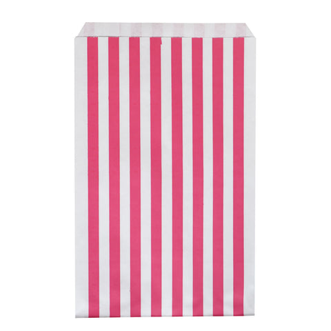 my little day - Paper Party Bags - Fuchsia and White Stripes - How I Wonder.co.uk - 1