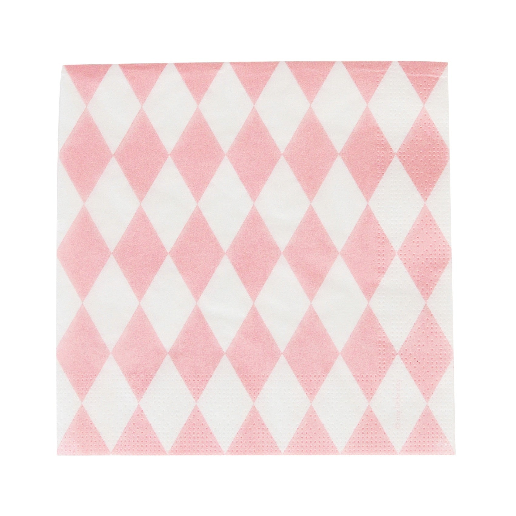 my little day - Paper Napkins - Light Pink Diamonds - How I Wonder.co.uk - 1