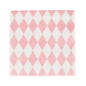my little day - Paper Napkins - Light Pink Diamonds - how-i-wonder