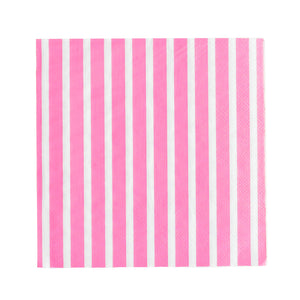 my little day - Paper Napkins - Fuchsia and White Stripes - how-i-wonder
