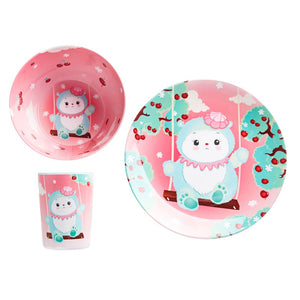 Children's Melamine Dinner Set - Maddy by Tulipop - How I Wonder.co.uk - 1