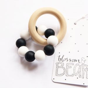 Blossom & Bear - Teething Toy - Colour Mix - Monochrome