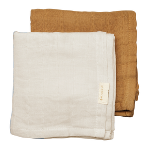 Fabelab - Muslin Cloth 2 Pack - Fawn - how-i-wonder