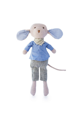 Organic Handmade Toys - Hazel Village - Oliver Mouse - How I Wonder.co.uk