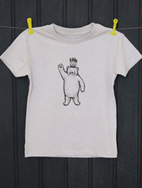 Soft Grey T-Shirt - Bear Print - Petra Boase - how-i-wonder