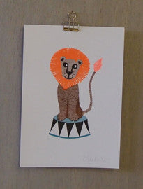 Risograph Art Print - Lion - Petra Boase - how-i-wonder