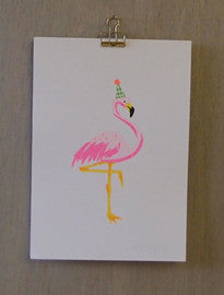 Risograph Art Print - Flamingo - Petra Boase - how-i-wonder