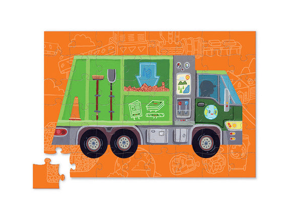 Crocodile Creek - Puzzle and Play - Recycling Truck - How I Wonder.co.uk - 2