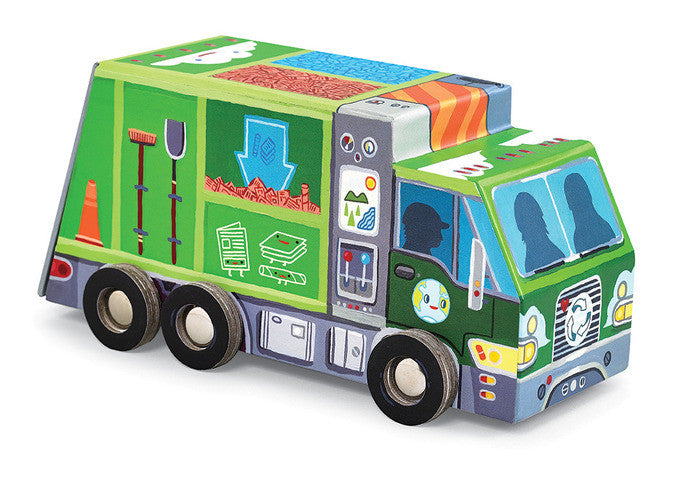 Puzzle and Play - Recycling Truck - Crocodile Creek - how-i-wonder