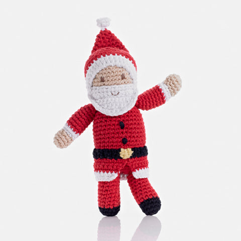 Pebble Fair Trade - Crochet Santa Rattle - Pebble - how-i-wonder