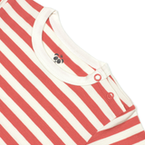 Bamboo Striped Body T-Shirt - Panda and the Sparrow - Coral & Natural - How I Wonder.co.uk - 3