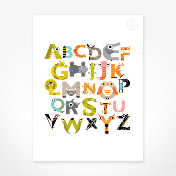 How i Wonder - The Jam Tart - Alphabet Print