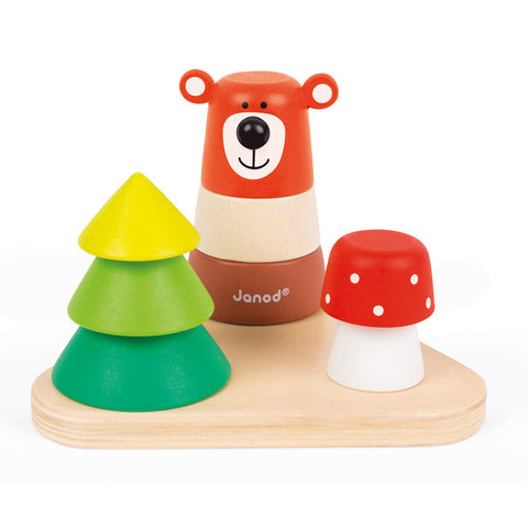 Janod Toys - Zigolos Forest stacker- Wooden Bear Stacker - How I Wonder.co.uk