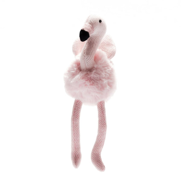 Large Knitted Flamingo - Soft Toy - Best Years - how-i-wonder