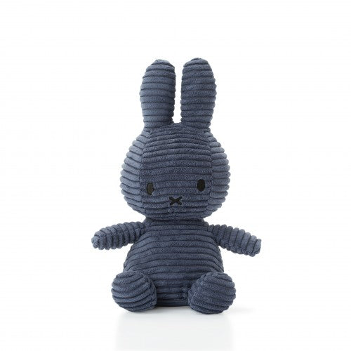 Miffy Corduroy Soft Toy 24cm - Dark Blue - how-i-wonder