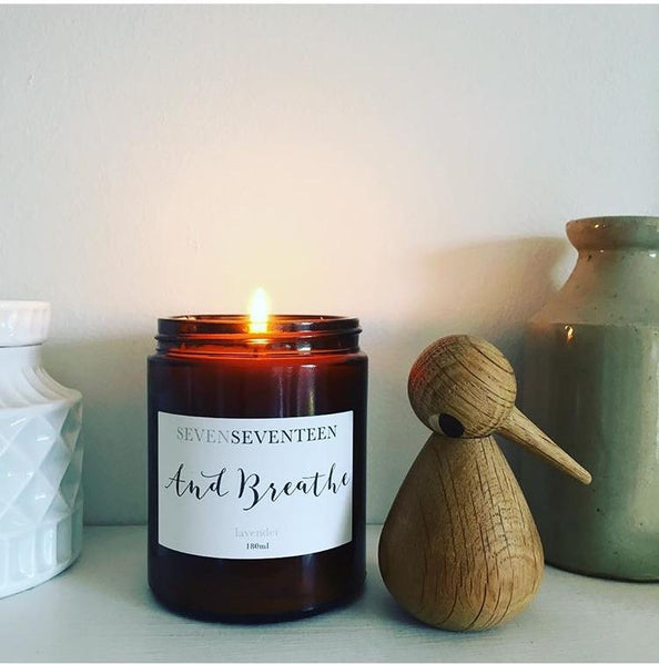 And Breathe -  Lavender Scented Candle - Seven Seventeen - how-i-wonder