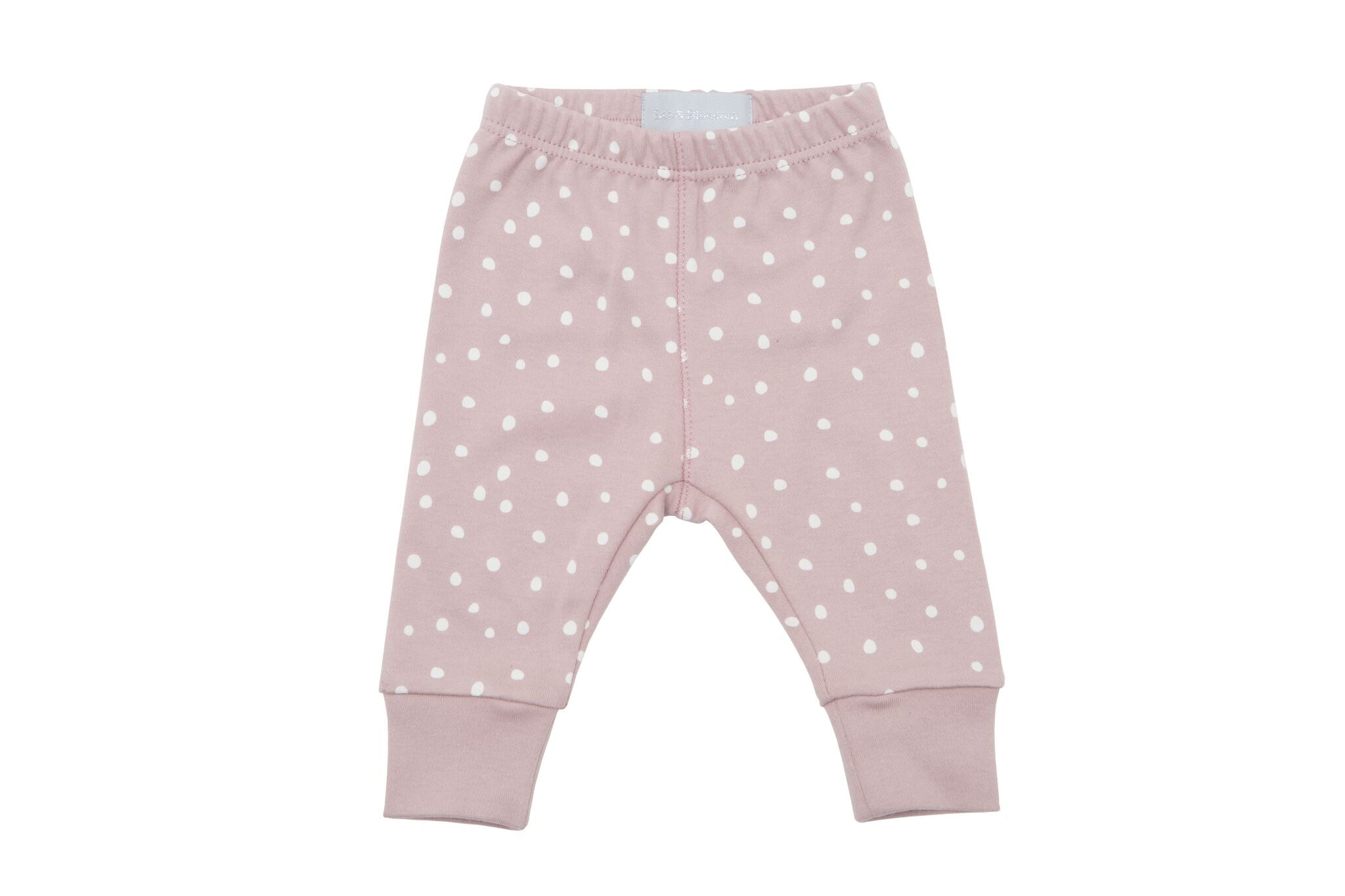 Old Rose & White Spot - Baby Leggings - Bob & Blossom - how-i-wonder