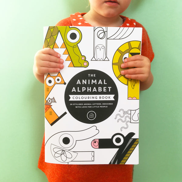Alphabet Colouring Book - The Jam Tart - how-i-wonder