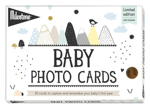 Milestone - Over The Moon - Baby Memory Cards - how-i-wonder