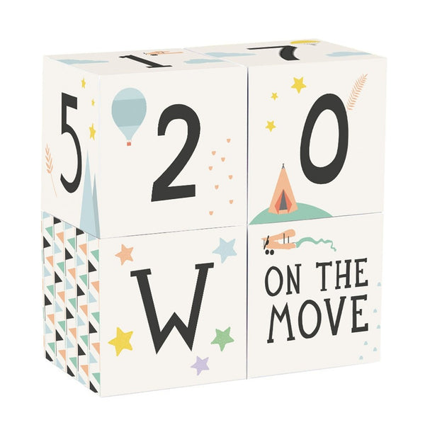 Milestone - Baby Blocks - how-i-wonder